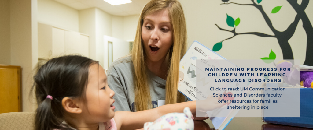 Grad clinician reads to child
